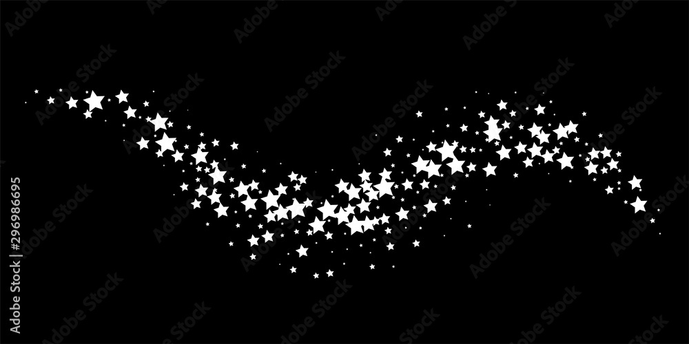 Fototapety, obrazy: White star way on black background vector illustration
