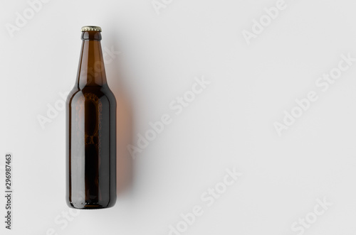 Bar Top view of a beer bottle mockup.