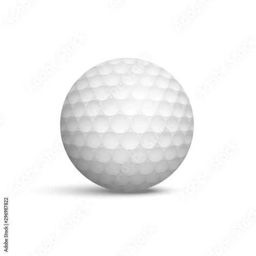 Golf ball realistic vector illustration Fototapeta