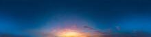 Seamless Dark Sky After Sunset...