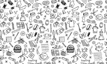 Sewing, Seamless Pattern For Your Design
