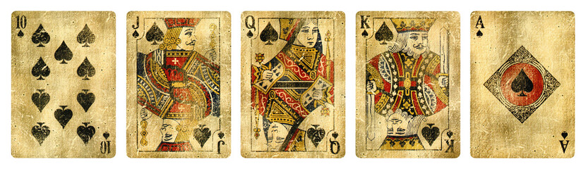 Spades Suit Vintage Playing...