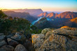 canvas print picture - three rondavels and blyde river canyon at sunset, south africa 52