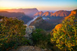 canvas print picture - three rondavels and blyde river canyon at sunset, south africa 59