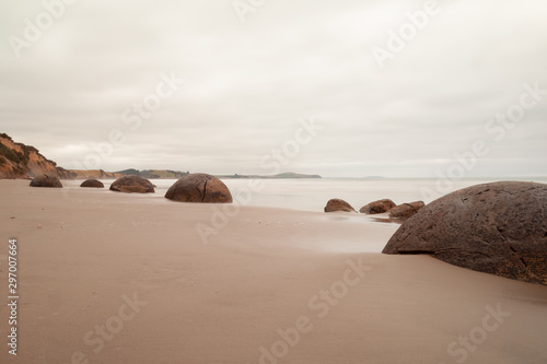 Photo Famous Moeraki Boulders at Koekohe Beach