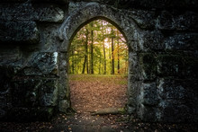 Archway With Autumn Forest Beh...