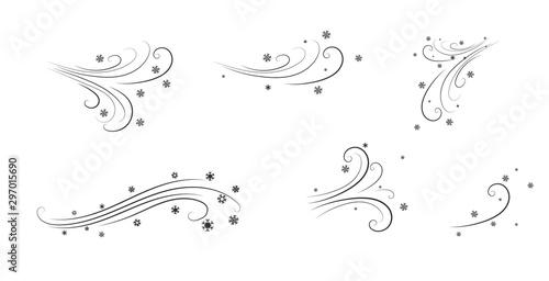 Photo Snow flying snowflakes