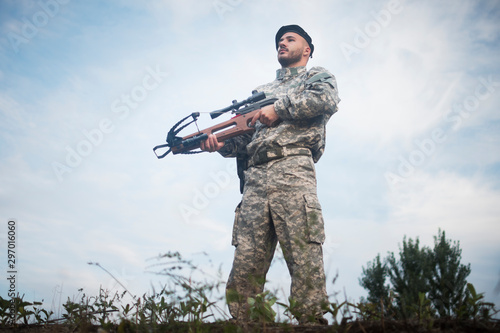 military guard with crossbow Poster Mural XXL