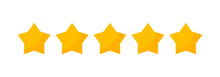 5 Star Vector Review Yellow Ic...