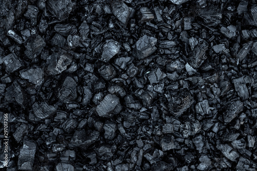 Fotografia Dark coal texture, coal mining, fossil fuels, environmental pollution