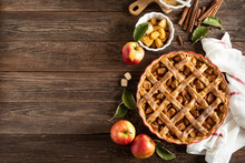 Apple Pie. Traditional America...