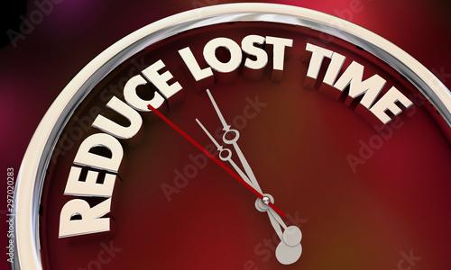 Fotografie, Tablou Reduce Lost Time Cut Waste Clock Efficiency Productivity 3d Illustration