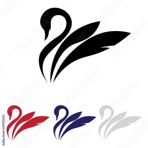 Obraz na plátně swan logo vector