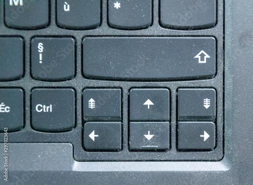 Vászonkép Visuel sur touche de direction d'ordinateur portable