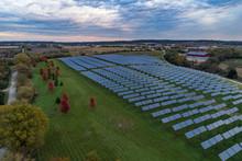 Solar Field In Autumn