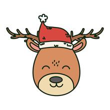 Reindeer With Hat Celebration ...