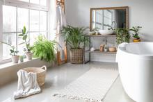 Stylish Interior Of Bathroom W...