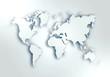 World digital outlined map background