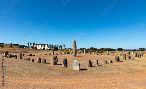 Xarez stone circle (Cromeleque do Xerez), a standing stone quadrant near Monsara Fototapeta