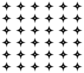 seamless geometric ornamental pattern. abstract background. black and white texture.
