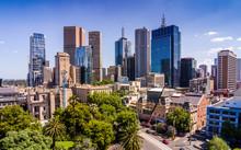 Aerial View Of Melbourne CBD F...