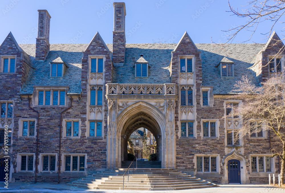 Fototapeta Princeton, New Jersey - February, 2019: Princeton University is a Private Ivy League University in New Jersey, USA.