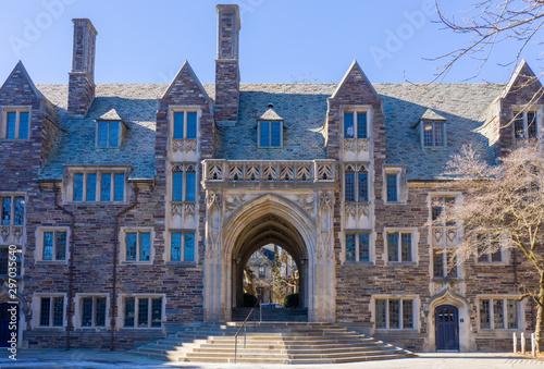 Fotografía  Princeton, New Jersey - February, 2019: Princeton University is a Private Ivy League University in New Jersey, USA