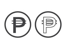 Philippine Peso Currency Symbol, Vector Illustration On White