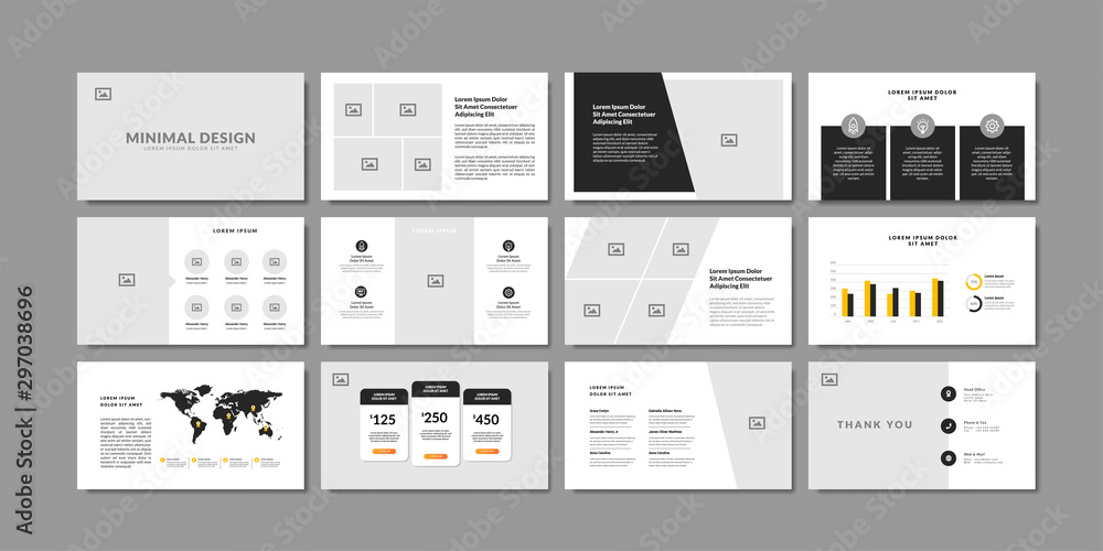 Fototapety, obrazy: Business minimal slides presentation background template. business presentation template.