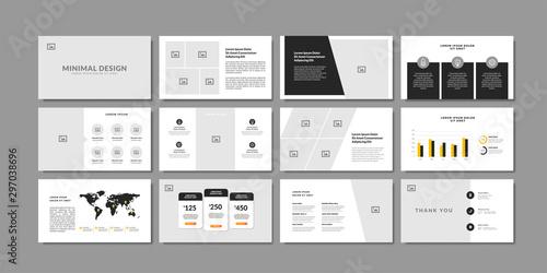 Valokuva  Business minimal slides presentation background template