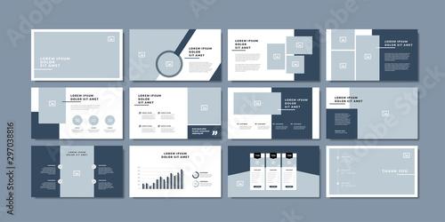 minimal slides presentation background template Canvas-taulu