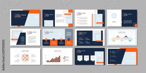 Fototapeta Business minimal slides presentation background template. business presentation template. obraz