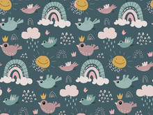 Vector Seamless Pattern With R...