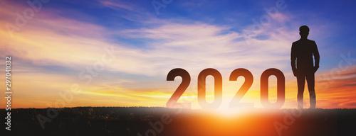Fotografia  New year 2020 business man