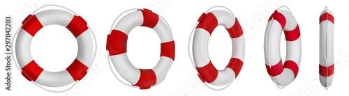 Fotografía 3d rescue life belt illustrations