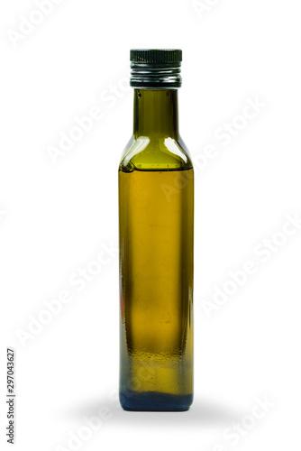 Fototapeta Glass bottle of olive oil isolated obraz