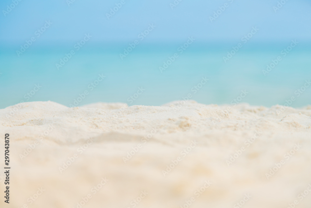 Fototapety, obrazy: Soft focus white Sand on the beach and blue sea sky.Summer vacation outdoor and travel holiday in Samed island Thailand