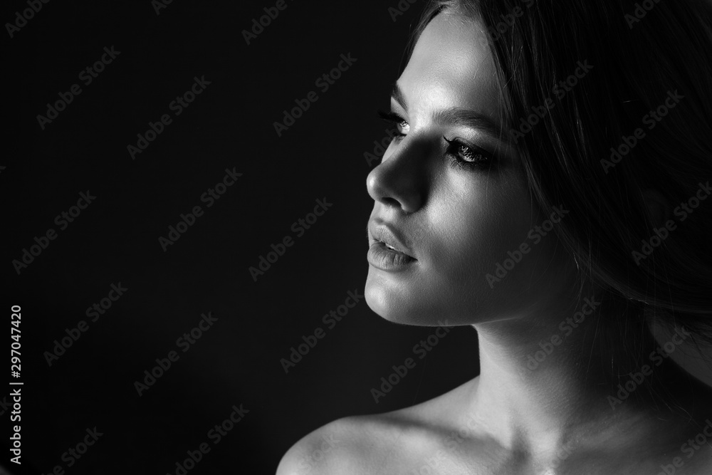 Fototapeta Portrait of a beautiful teen girl