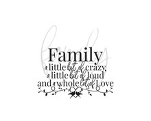 Family Wording Design, Vector....