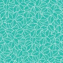 Vector Green Leaves Overlapped...