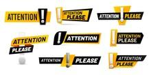 Attention Please Badges. Impor...