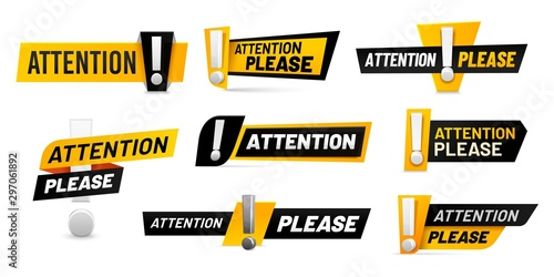 Carta da parati Attention please badges