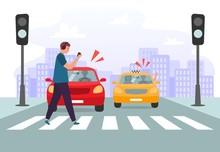 Crosswalk Accident. Pedestrian...