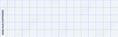 Blue line graph paper grid