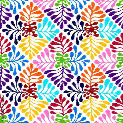 Fotomural  Vector seamless mexican style floral  pattern