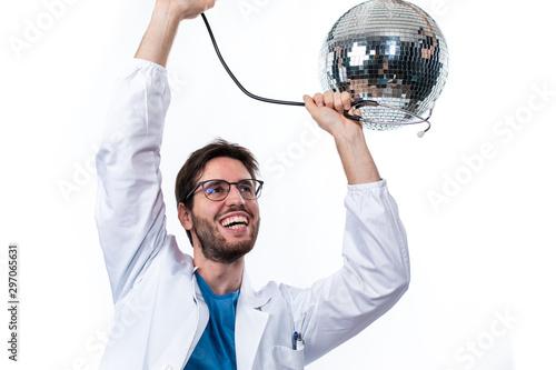 Medico si da alla pazza gioia in discoteca Tablou Canvas