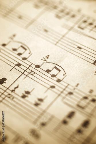 Fényképezés  Music sheet view