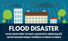 City Flood Disaster Concept Ba...