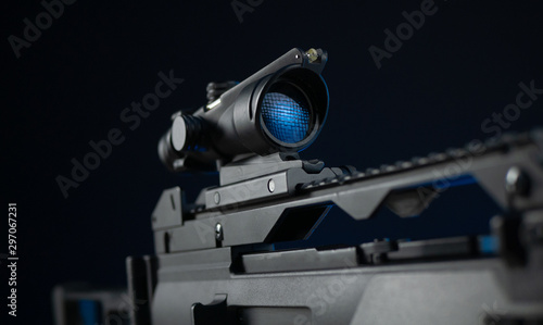 Photo  automatic rifle with optical sight