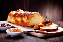 Traditonal Greek Brioche With Almonds